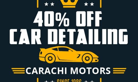 Upto 40% OFF on Car Detailing Services in Karachi Throughout December